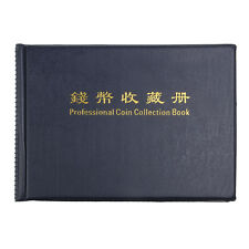 Portable Money Penny 240 Holders Collection Storage Coin Album Book Folder