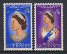 Guernesey - 1977, Argent Jubilé Ensemble - MNH - Sg 149/50