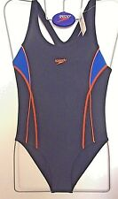 "NEW WITH TAGS SPEEDO GIRLS SHADOW SWIMSUIT UK SIZE 30""CHEST (76cm)"