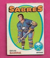 1971-72 OPC # 22 SABRES DOUG BARRIE  ROOKIE VG+  CARD (INV# C8385)
