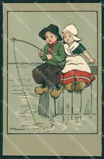 Ethel Parkinson Dutch Children Dondorf serie 380 postcard cartolina QT7028