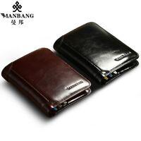 Elegant Men's Wallet Genuine Leather Short Male Purse For Card Holder Fashion