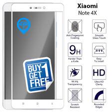 2 X for XIAOMI REDMI Note 4x Full Tempered Glass Screen 9h Protector Film White
