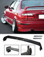 For 96-00 Honda Civic Mugen Style Trunk Wing Spoiler 4Dr Sedan w/ black emblems