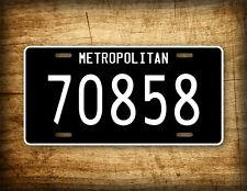 The Matrix Movie License Plate Metropolitan 70858 Auto Tag Agent Smith McFarlane