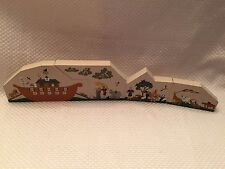 Cat's Meow 4 pc set Yeah Noah Ark Solid Wood Signed 1995 1996 Faline Boat