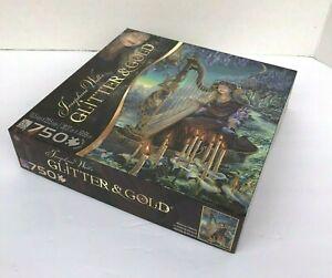Josephine Walls Glitter & Gold Minervas  Melody Fantasy 750 Piece Puzzle NIB
