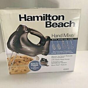 Hamilton Beach Hand Mixer With Snap on Case- Brand new 6 Speeds