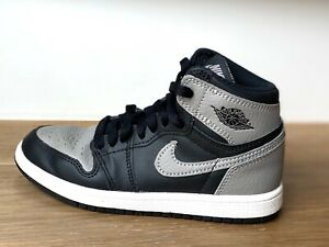 NIKE Air Jordan Retro 1 High Shadow Gray Black SZ 13C Toddler Kids