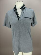 Guess Size S Mens Gray Short Sleeve 100% Cotton Polo Shirt 387