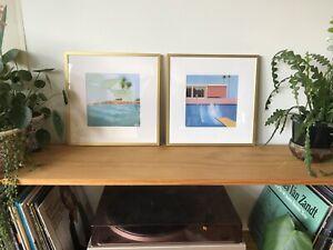 2x David Hockney Framed Prints