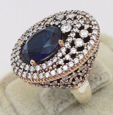 Hurrem Sultan Ottoman Turkish Handmade Authentic Bronze Silver Ring! Size 6.75