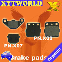 FRONT REAR Brake Pads for Kawasaki KX 100 1989-1996