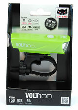 CatEye Volt 100 Bicycle Front Light, USB Rechargeable - HL-EL150RC - Green