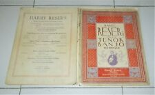HARRY RESER'S MANUAL OF TENOR BANJO TECHNIQUE 1924 Metodo manuale Harry Reser