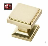 New, Southern Hills Satin Brass Square Cabinet Knobs, Pack of 5 *D-14.11oc30*