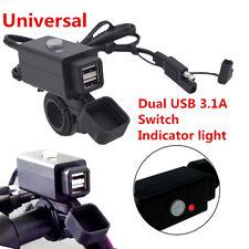 12V Waterproof Motorcycle Phone GPS Power Socket LED Dual USB Charger For Honda