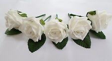 1 Rose Wedding Buttonholes with diamante - 44 colours - Groom, Guest, Best man