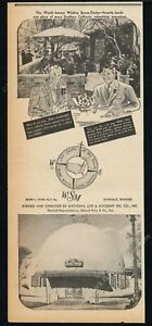 1940 The Brown Derby restaurant photo Wilshire vintage trade print ad