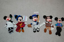5 Mickey Mouse Bean bags Stuffed  Baseball, Pilot, Toga, Sorcerer and Navigator