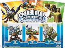 Skylanders Spyro's Adventure TRIPLO CONFEZIONE A Drobot Flameslinger Stump Smash