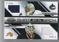 2010-11 CERTIFIED LUONGO MILLER SHIRT OFF MY BACK JERSEY SP /250 #LM