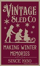 PRIMITIVE STENCIL VINTAGE SLED CO 12X20 .007 MIL FREE SHIPPING