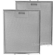 2 x filtri d'argento per Ariston Creda Cannon Cappa Rete Metallica 300 x 250mm