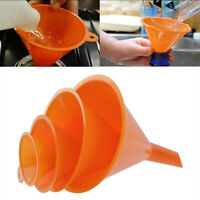 4Pc/set Multi Use Funnel Household Kitchen Cooking Garage Car Oil Petrol Funnel