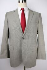 Hugo Boss Gray Striped Wool Two Button Side Vented Suit 42 R 33 30 Flat Front