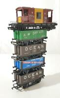 BACHMANN & HORNBY OO GAUGE - MIXED OWNER OPEN WAGONS & BRAKE VAN SET