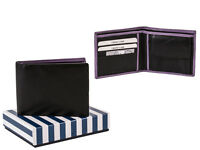Real Genuine Leather Mens Wallet Designer Italian High Quality Card Gift Box New