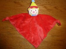 Red triangle comfort blanket with clown. Sainsbury / TU.              2/6