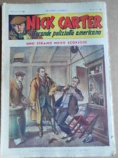 Nick Carter Il Grande poliziotto americano Anni 40 n°28 ed. NERBINI  [G369]