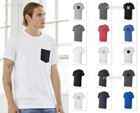 Bella+Canvas Men's Jersey Short-Sleeve Colorblock Pocket T-Shirt - 3021