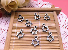 Wholesale Tibet Silver  Star of David Charm Pendant Beaded Jewelry 20pcs T93