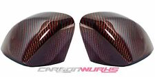 Audi Red Carbon Fibre Fiber Replacement Mirrors - A3 S3 RS3 8V - UK Stock