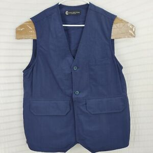 Mens concealed clothiers blue Shooting Vest made in USA Large