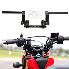 """125cc 7/8"""" Black CNC Motorcycle Scooter Adjustable Steering Handle Bar System"""