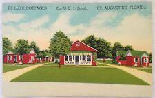 Deluxe Cottages St. Augustine Florida - Linen Postcard +