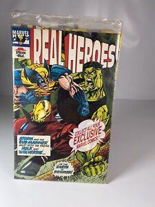 Marvel Pizza Hut REAL HEROES #2, #3, & #4 Spider-Man Iron Man Cap America 1994