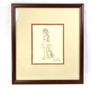 Connie King Just Like Mommy Signed Lithograph Matted and Framed