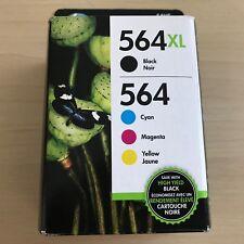 HP 564XL Black & CMY Standard ink 4-PACK, PHOTOSMART 6510, 6520, EXP 2019-2020