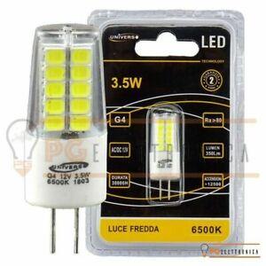 LAMPADINE LED 2,5W 12Volt G4 BISPINA 240 lumen Universo calda naturale e fredda