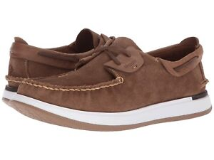 Men's Sperry Caspian Suede Boat Shoes, STS17195 Multiple Sizes Tan