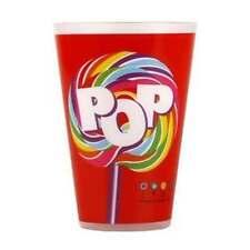 DYLAN'S Candy Bar POP Lollipop Set 6 RED Plastic Tumbler Set NWT NEW