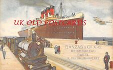 Early Advertising Postcard, DANZAS & Co, Basel, Air & Shipping Freight Company