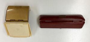 2 Vintage Bulova Watch Boxes, Cases