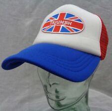 triumph motorcycles trucker hat mesh cap blue red adjustable uk new