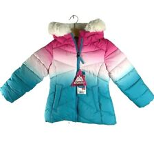 Snozu Girl's Hooded Snow Jacket Only Removeable Hood Cherry Pink/Teal Ombre